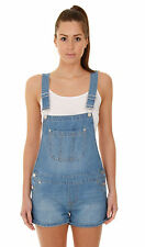 Womens Relaxed Fit Bib Overall Shorts Ladies Denim Bib Overall Shorts Shortalls