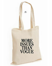 MORE ISSUES THAN VOGUE TOP COTTON TOTE HIPSTER CELINE DOPE WASTED SWAG(MORE,BAG)