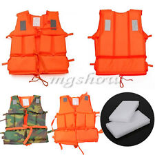 Boating Aid Kayak Boating Orange Foam Flotation Swimming Safety Life Jacket Vest