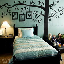 Big Full Tree Wall Decal with free frame decal - corner tree wall sticker