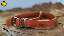 Burned Orange Distressed Leather Military Army strap 18 19 20 21 22 23 24 25mm
