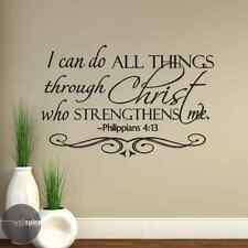 Philippians 4:13 I Can Do All Things Through Christ Bible Verse Vinyl Wall Decal