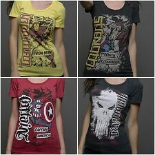 RED CHAPTER / MARVEL WOMEN'S T-SHIRTS *IRON MAN THOR CAPTAIN AMERICA & PUNISHER*