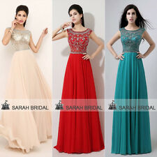 Sexy Scoop Chiffon Long Prom Dresses Party Evening Formal Ball Pageant Club Gown
