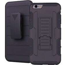 Heavy Duty Hybrid Future Armor Case + Belt Clip Holster +Kickstand Hybrid Cover