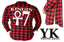 Tartan Extended Long Shirt Side Zip Last Kings Tyga Chris Brown