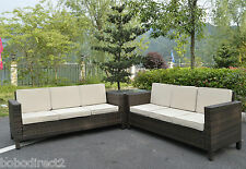 Rattan Garden Furniture Set Sofa Conservatory Outdoor Weave Wicker Patio Corner