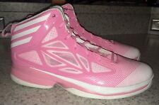 NEW Mens 13.5 ADIDAS AS SMU Crazy Fast Pink White Basketball Shoes Sneakers