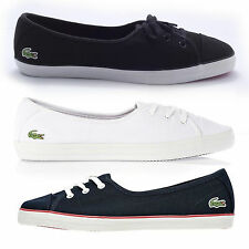 "Lacoste Women""s Ziane Chunky Lace Up Flat Trainers"