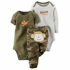 Carters Newborn 3 6 9 12 18 24 Months Camouflage Bodysuit Set Baby Boy Clothes