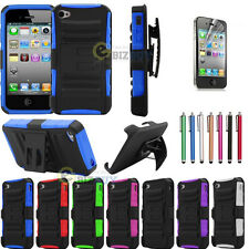 Heavy Duty Rugged Armor Hard Case Cover + Belt Clip Holster for iPhone 4g 4S 4