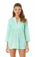 Lilly Pulitzer Sarasota Tunic Spa Blue Get Crackin Crab Cotton XS;NWT$148