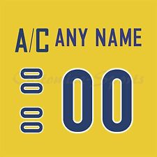 IIHF Olympic Hockey 2010 Sweden Gold Jersey Customized Number Kits un-sewn