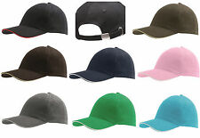 Sandwich Peak Summer 6 Panel Classic Adjustable Cotton Baseball Cap 9 Colours
