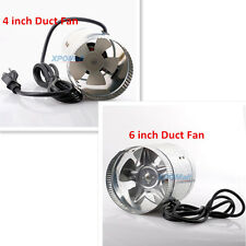 "NEW 4"" 6"" Inch Duct Fan Air Cooling Exhaust Vent Hydroponic Inline Blower Quiet"