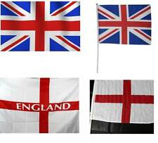 Union Jack and England flags large and handheld for sports events