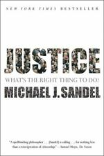 Justice : What's the Right Thing to Do? by Michael J. Sandel (2010, Paperback)