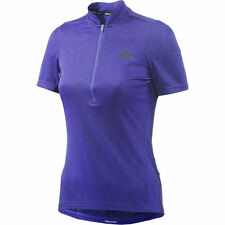 adidas Womens Response Plura Short Sleeve Jersey - Purple - Cycling - Clothing
