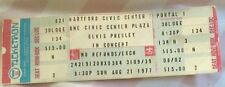 ELVIS PRESLEY CONCERT TICKET 8/21/77 HARTFORD,CT CIVIC CENTER COLLECTIBLE UNUSED
