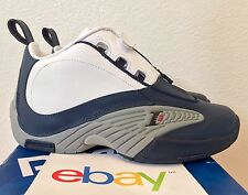 DS REEBOK ANSWER 4 USA SIZE 4.5-6.5 GS white navy red iv question dmx 10 iverson