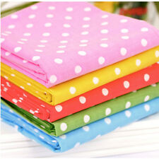 """By The Yard 44""""*36"""" Cotton Blend Fabric 8 COLORS CANDY DOT Sewing Quilting Craft"""