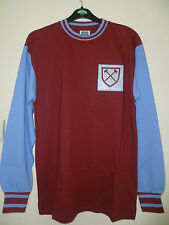 Bnwt West Ham United Home 1966 Retro LS Football Shirt