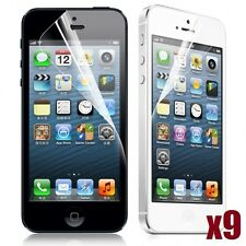 9X CLEAR LCD FRONT TOUCHSCREEN PROTECTOR SCREEN GUARD FOR APPLE IPHONE 5 5C 5S