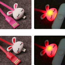 For iPhone 5 5S 6 6 Plus iPod Lightning LED USB Charger Sync Data Cartoon Cable