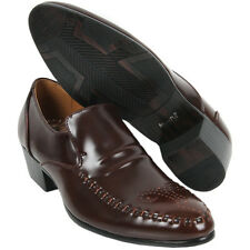 New Model Leather Dress Loafers Brown Mens Shoes Novamall