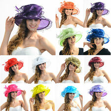 Ascot Kentucky derby church wedding hat satin organza feather dress SUMMER hat