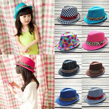 Baby Girl/Boy Toddler Kid Fedora Hat Jazz Cap Photography Cotton Trilby Top Hot