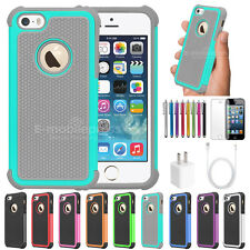 Colorful Heavy Duty Hybrid Rugged Hard Matte Case Cover For Apple iPhone 5 5S