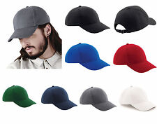 Heavy Brushed Cotton Summer 6 Panel Classic Adjustable Baseball Cap 10 Colours