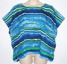 NWT - MICHAEL KORS PLUS Poncho Tunic with Split Sleeve, Multicolor, MSRP $89.50
