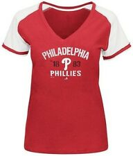 Philadelphia Phillies MLB Majestic Her Future Red T Shirt Plus Sizes