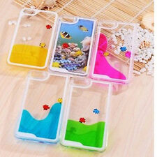 Funny Swimming Fish  Liquid Transparent Crystal Hard  Case for iPhone 4