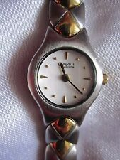 "Caravelle Bulova Womens Watch Silver/Gold Tone Round Dial Fits up to 8"" Wrist"