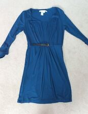 Max Studio Blue Stretch Knee Length Dress Size Large
