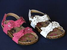 New Baby Toddler Girls Sandals Flats White Fuchsia Hot Pink Spring Summer