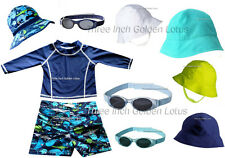 CLEARANCE!!~CUTE Baby/Infant Toddler Boys Swim Shorts~Rashguard~Sun Hat~Sunglass
