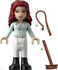 LEGO FRIENDS - THERESA FIGURE + FREE STABLE BROOM & HORSE WHIP - BESTPRICE - NEW