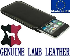 POCKET CASE HANDMADE GENUINE REAL LAMB LEATHER POUCH COVER - RANGE OF MODELS