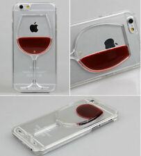 3D Cool Clear Dynamic Liquid  Red Wine Cup Case Cover For iPhone6/6Plus/5/5S