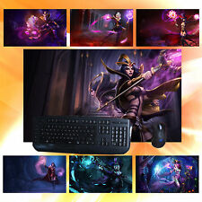 """LOL Deceiver LeBlanc Keyboard Mouse Pad 23""""*13"""" Play Mat for League of Legends"""