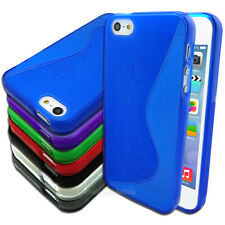 NEW Flexible Gel Case for Apple iPhone 5 5S Soft TPU Cover Curves S-Line