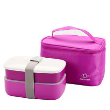 Japanese Bento Lunch Box Lunchbox Picnic Food Container with Insulated Tote Bag