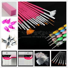 Nail Art Brush Cuticle Pusher Buffer File Display Wheel Sticker Forms Tool