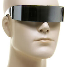 Futuristic Cyclops Monoblock Mirror Lens Shield Space Out This World Sunglasses