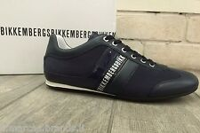 Dirk Bikkembergs Mens Shoes Sneakers Leather Trainers Blue BKE106575 New In Box