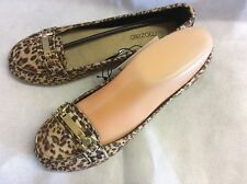 'MUST HAVE' ANIMAL PRINT MOCCASIN DOLLY SHOE SIZE's 3 - 5 - 6 - 7
